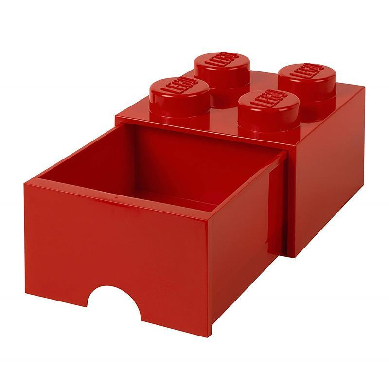 Caixa de armazenamento LEGO vermelho