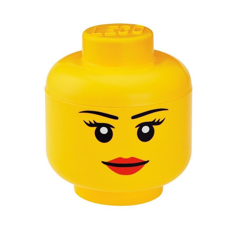Caixa de armazenamento LEGO cabeça menina