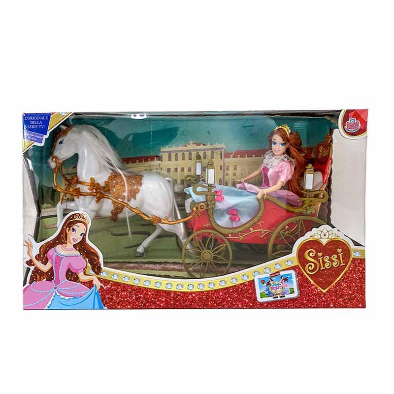 Sissi boneca com carruagem