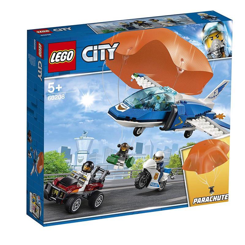 LEGO City detenção do ladrão paraquedista