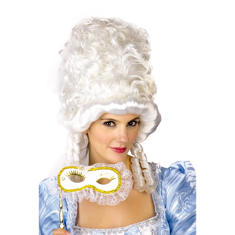 Carnaval peruca branca princesa