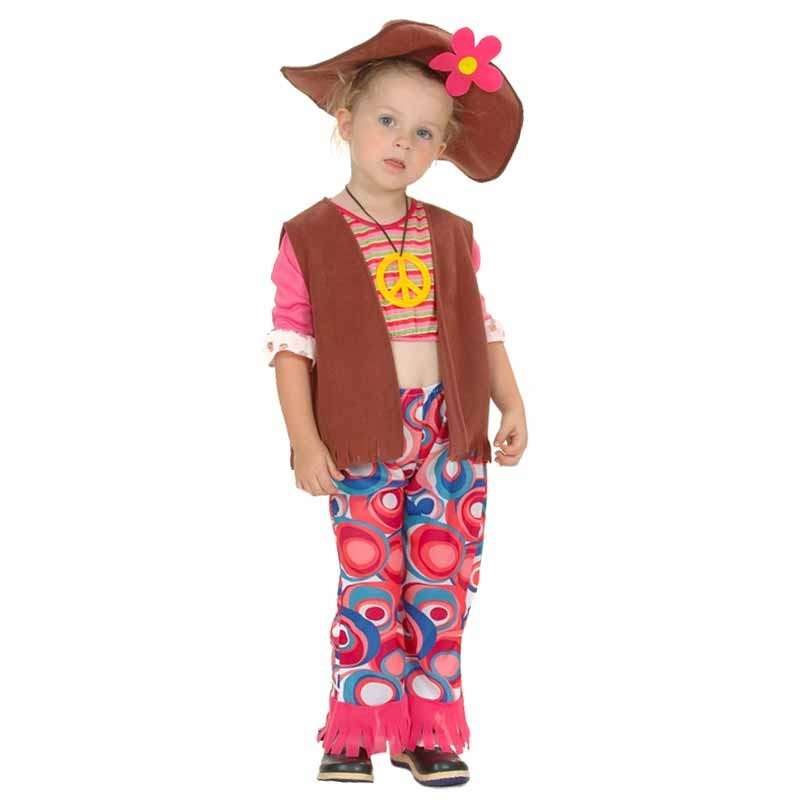 Disfarce menina hippie infantil
