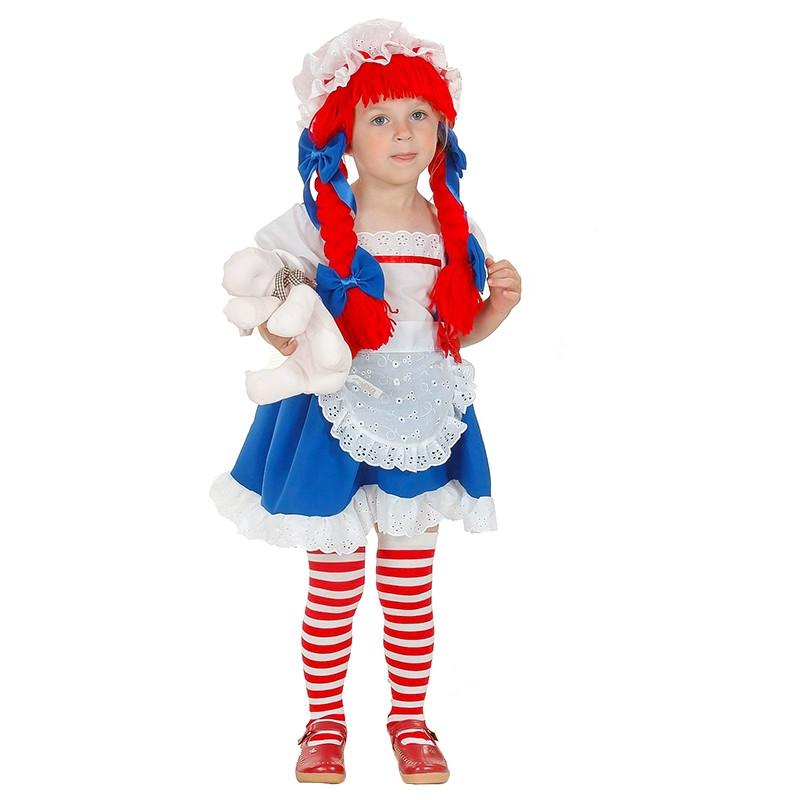 Disfarce boneca de trapos bebé