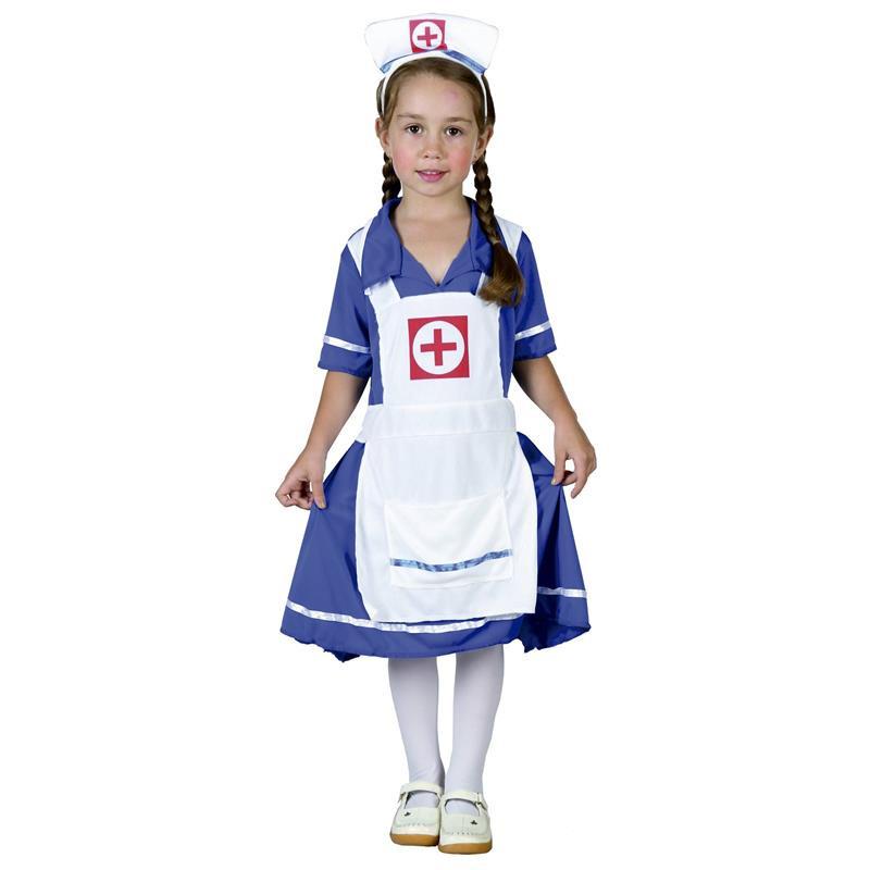 Disfarce de enfermeira para bebé
