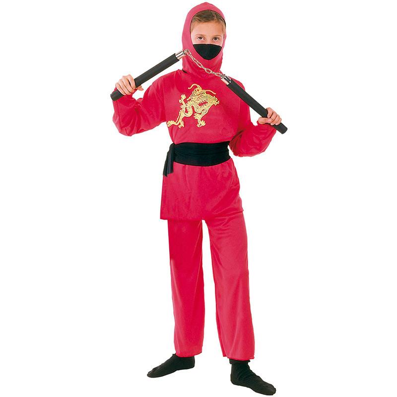 Disfarce ninja vermelho infantil
