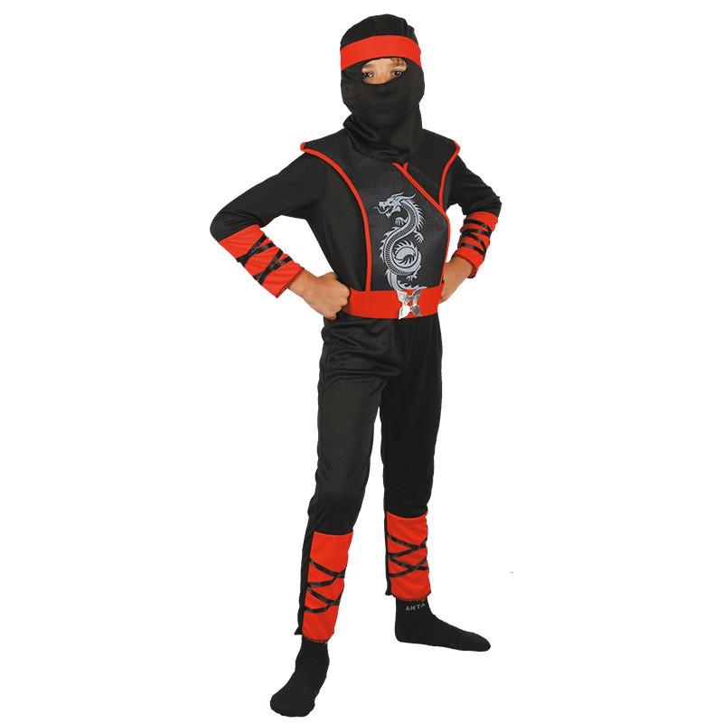 Disfarce Ninja dragao infantil vermelho