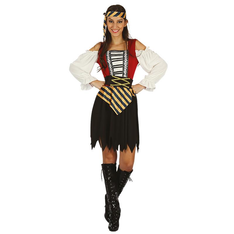 Disfarce Mulher pirata para adulto
