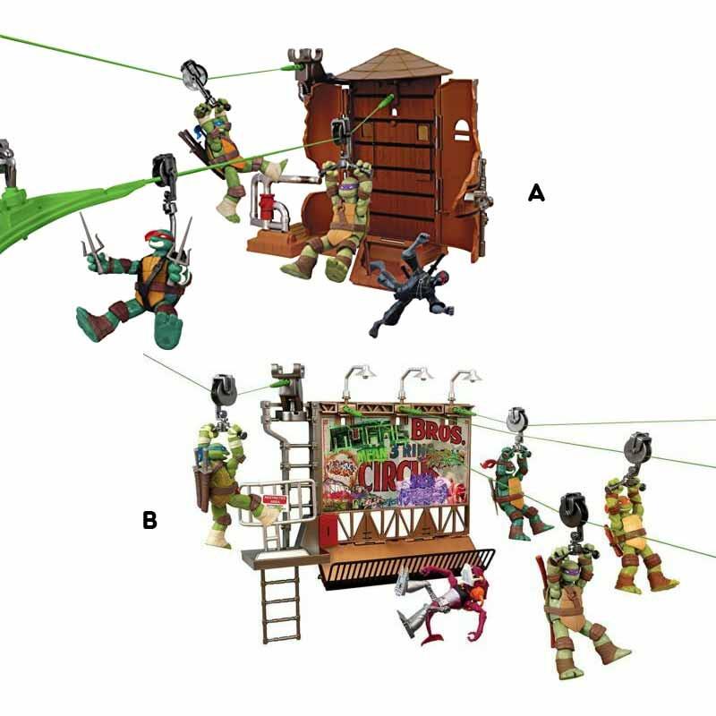 Tartarugas Ninja Z-LINE playset