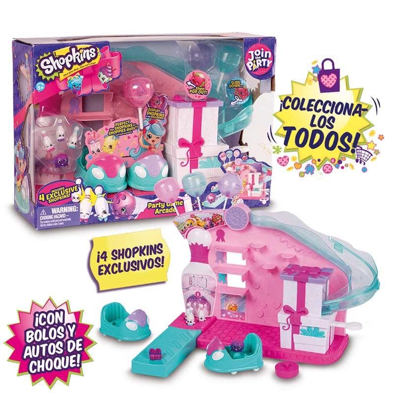 Shopkins s7 playset party game arcade