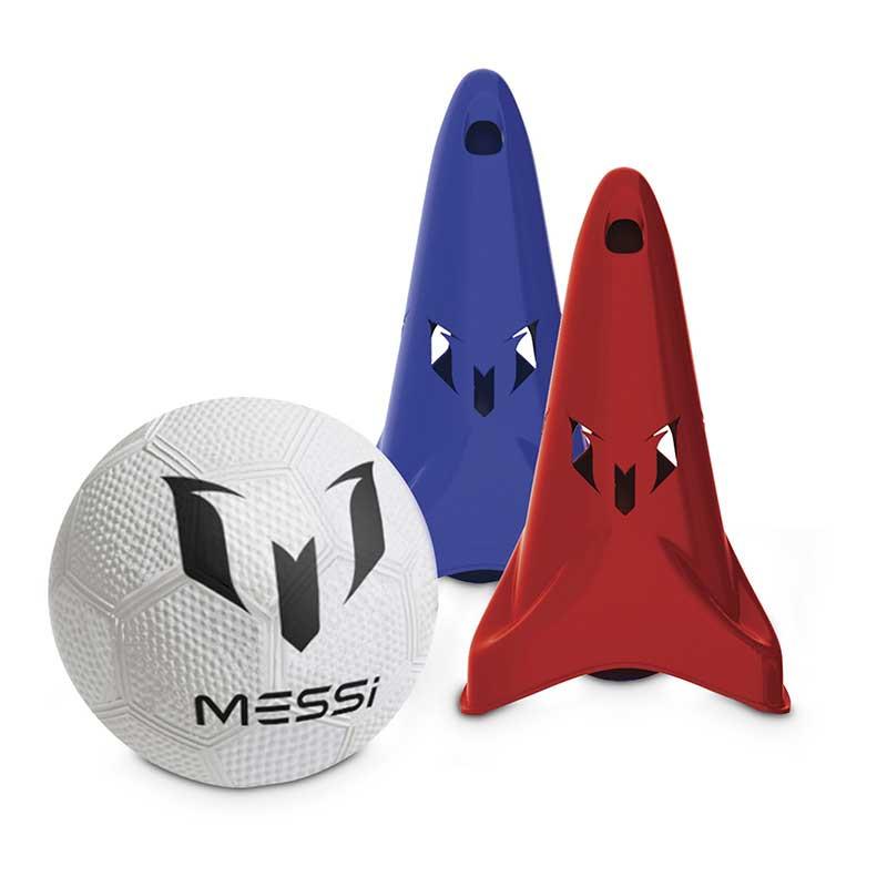 Messi training speed com 2 cones e bola