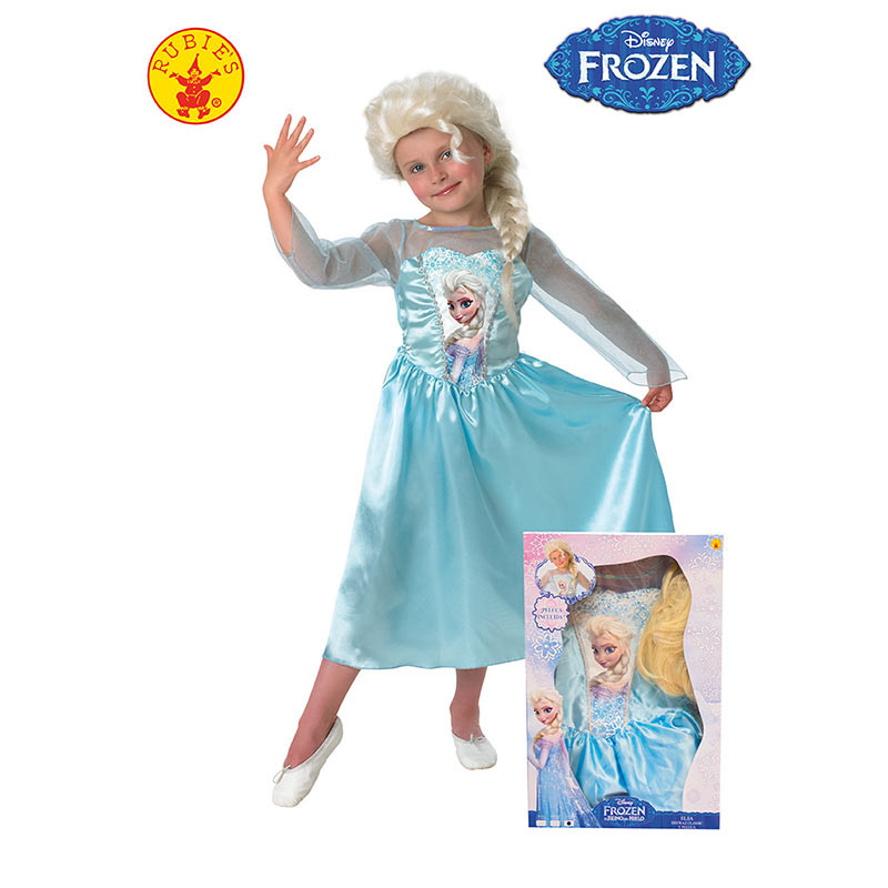 Disarce Elsa infantil com peruca (em Caixa)