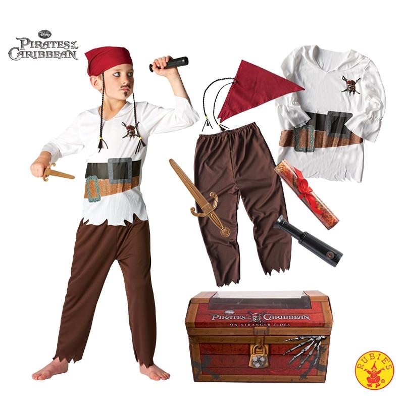 Disfarce Pirata das Caraíbas Infantil