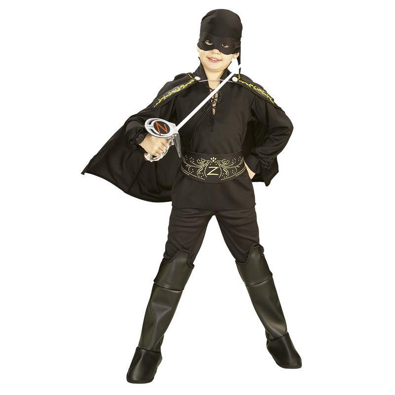 Zorro Disfarce infantil com acessórios