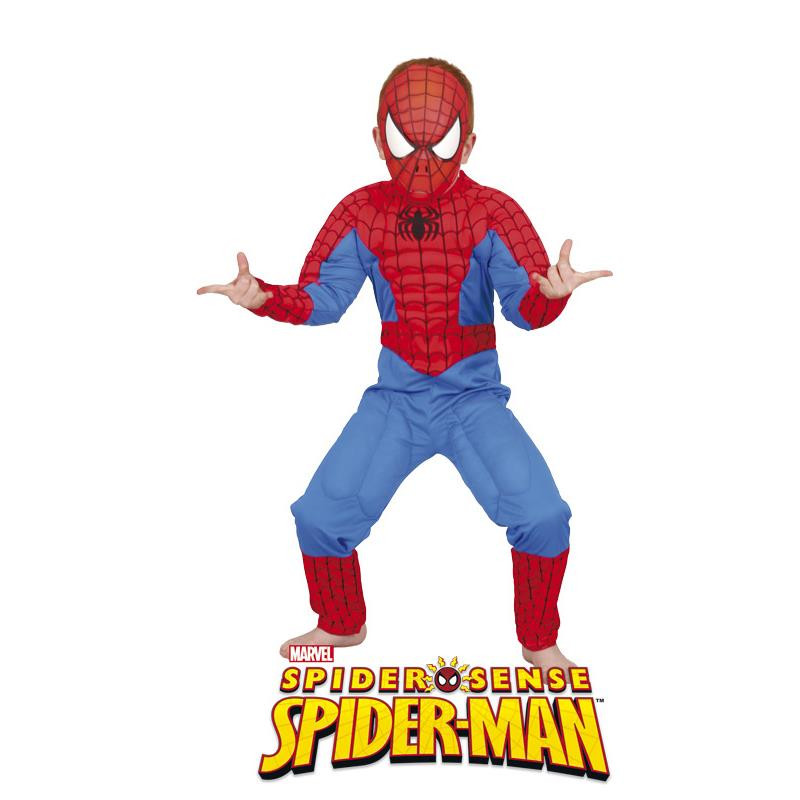 Spiderman Disfarce musculoso infantil