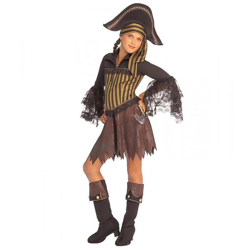 Disfarce Pirata com cobre botas Infantil