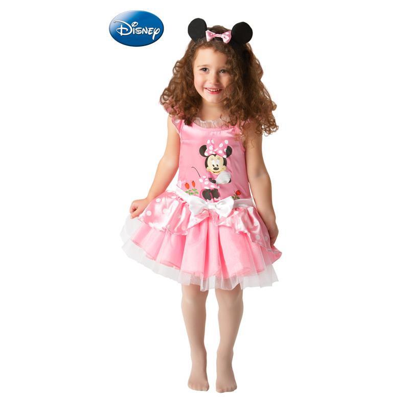 Minnie Mouse Disfarce Bailarina Rosa Infantil