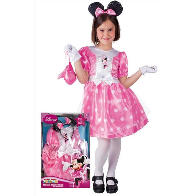 Minnie Mouse Disfarce Rosa Infantil
