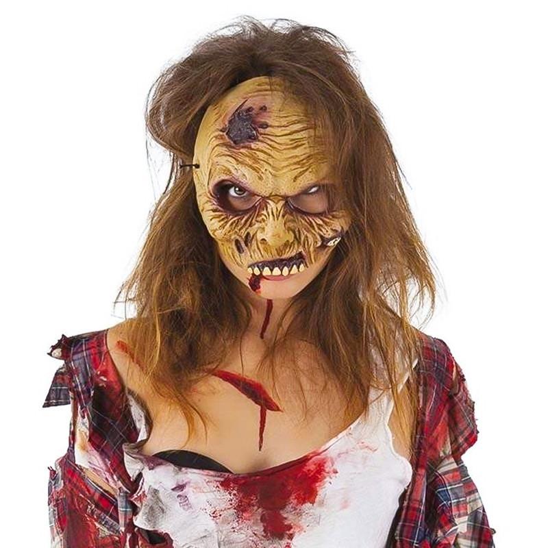 Máscara Zombie Meia Cara