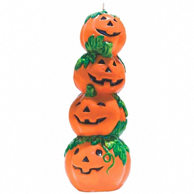 Vela Halloween torre de abóboras 17,5cm