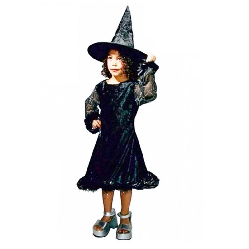 Disfarce bruxa ye-ye com chapeu infantil