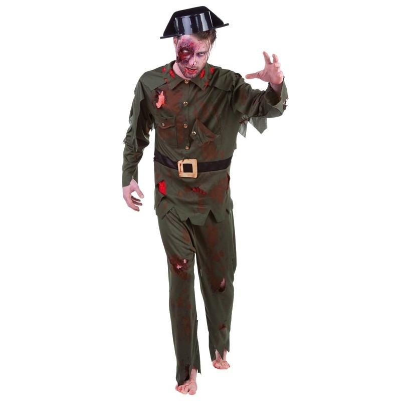 Disfarce Guarda Civil Zombie Adulto