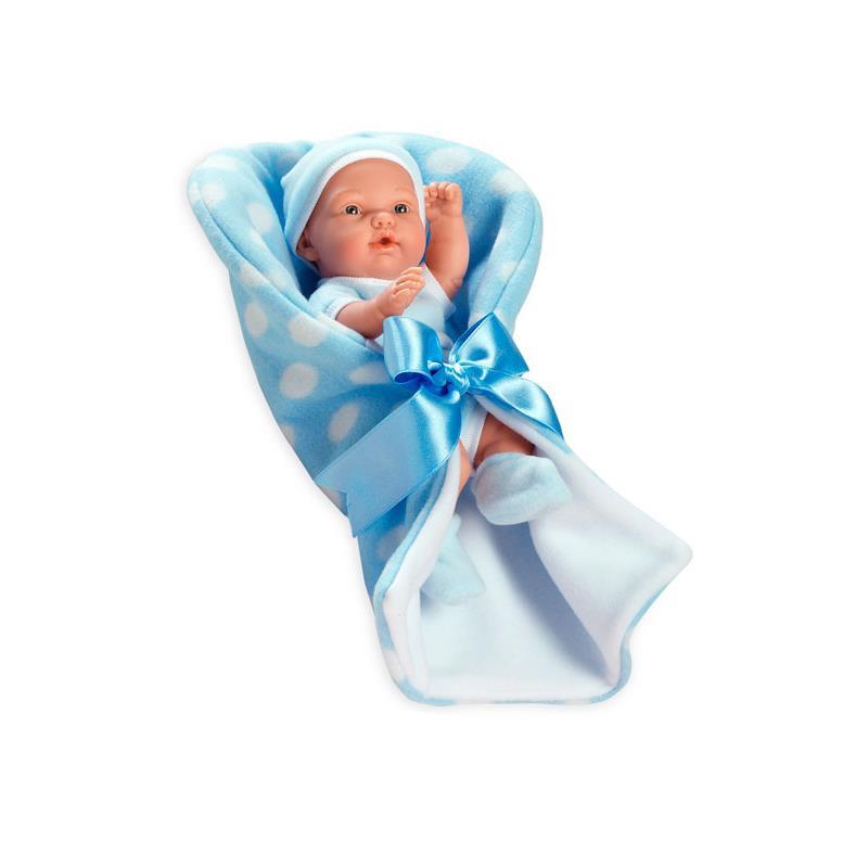 Boneca bebé azul mantinha 26 cm