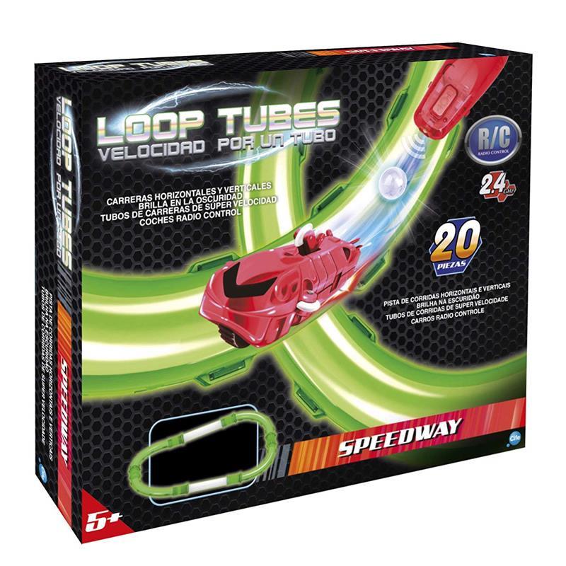 Loop Tubes Velocidade por um tubo