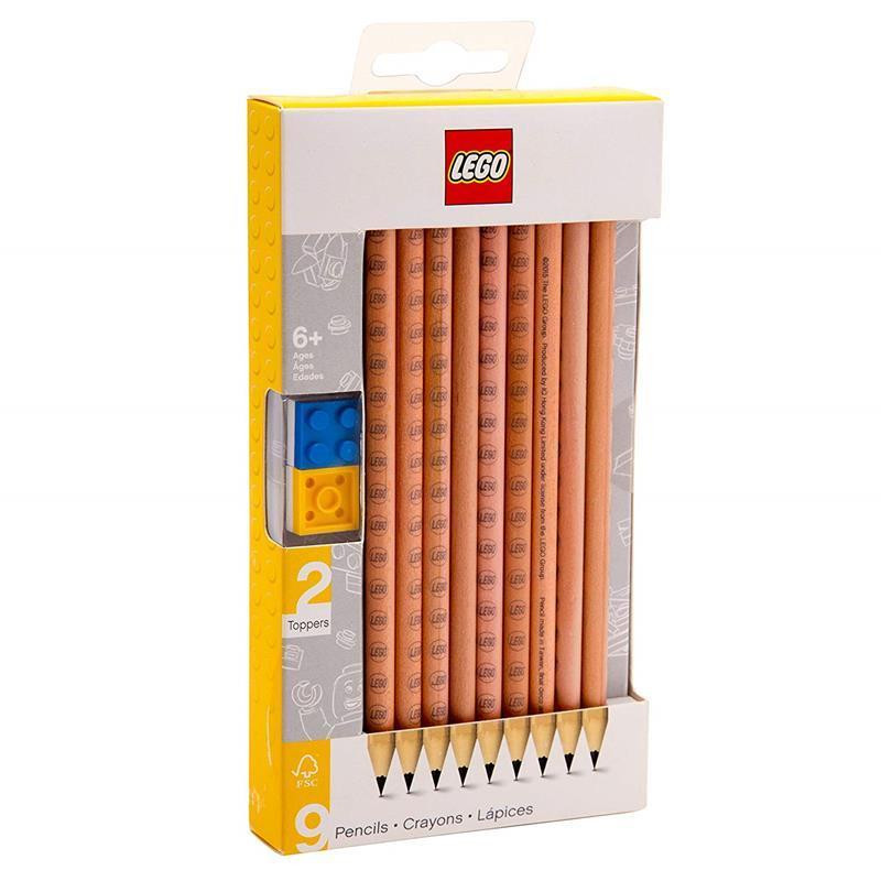LEGO Pack de 9 lápis nº2 com toppers