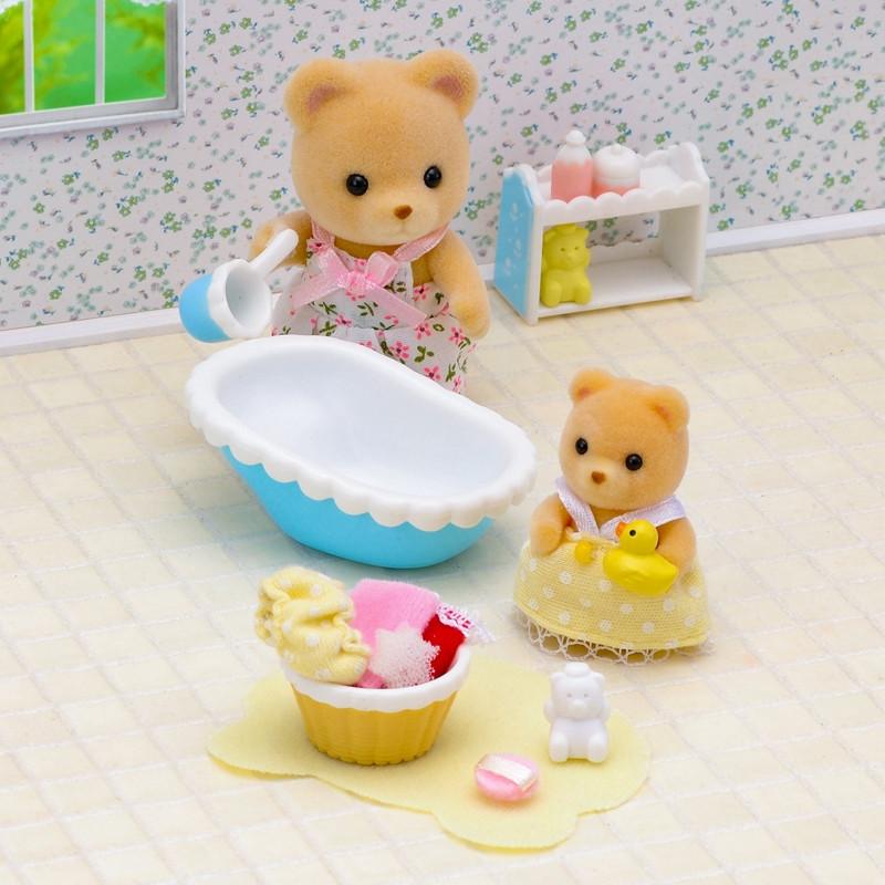 Sylvanian Families hora do banho