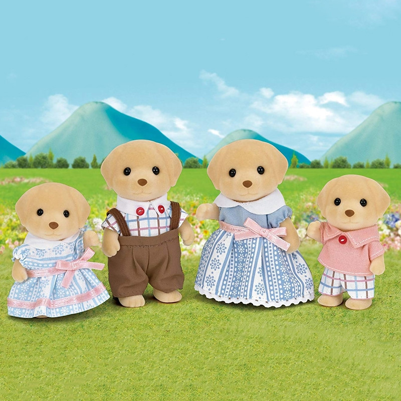 Sylvanian Families - família de cães (labrador)