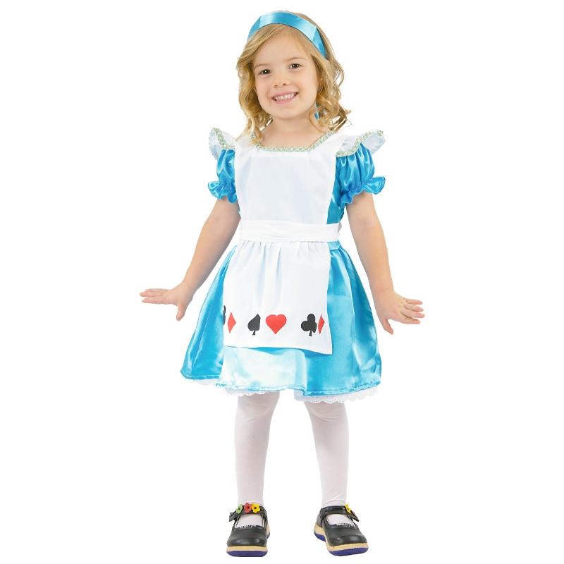 Disfarce Alice com corações para bebé
