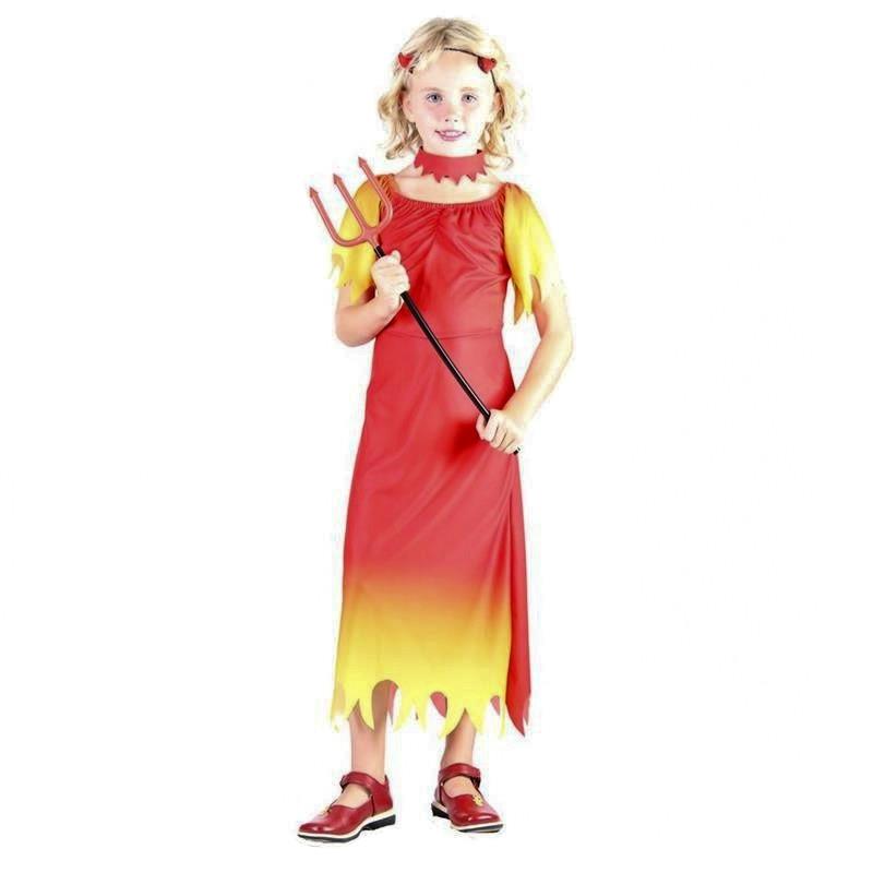 Disfarce menina diabo infantil