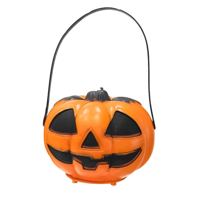 Abóbora com alsa e luz Halloween