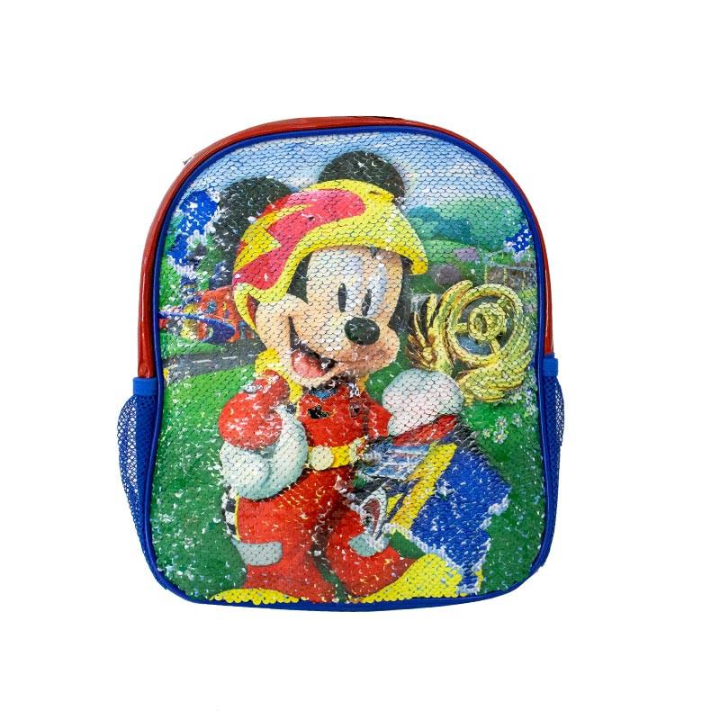Mochila Mickey com lantejoulas reversíveis 30cm