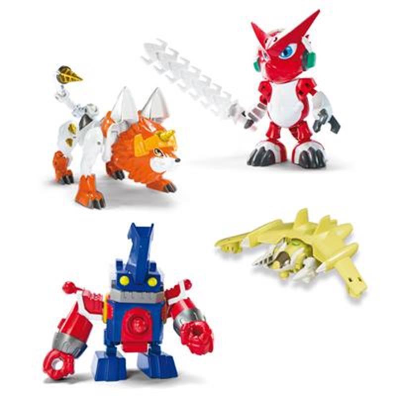 Digimon pack de 4 figuras Shoutmon X5