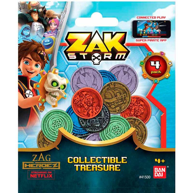 Zak Storm conjunto de 4 moedas