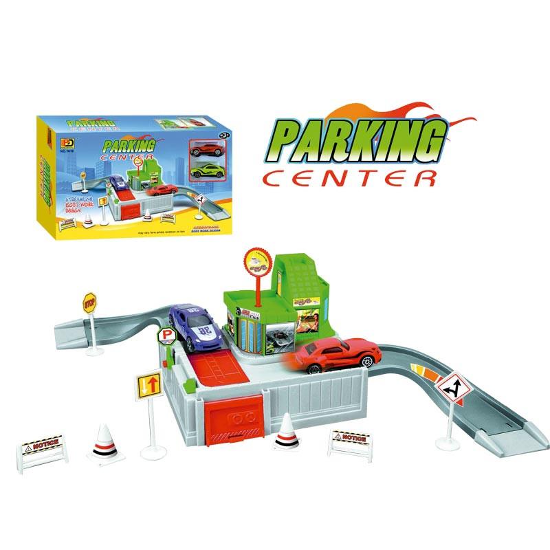 Pista circuito de estacionamento com 2 veículos