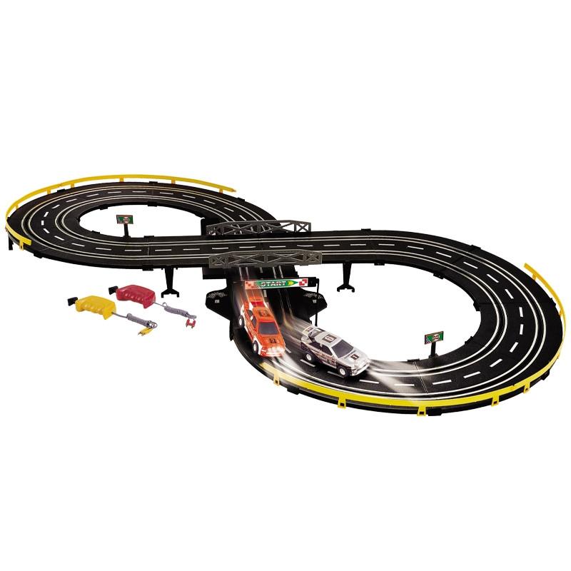 Circuito carros desportivos com luz e 2 carros