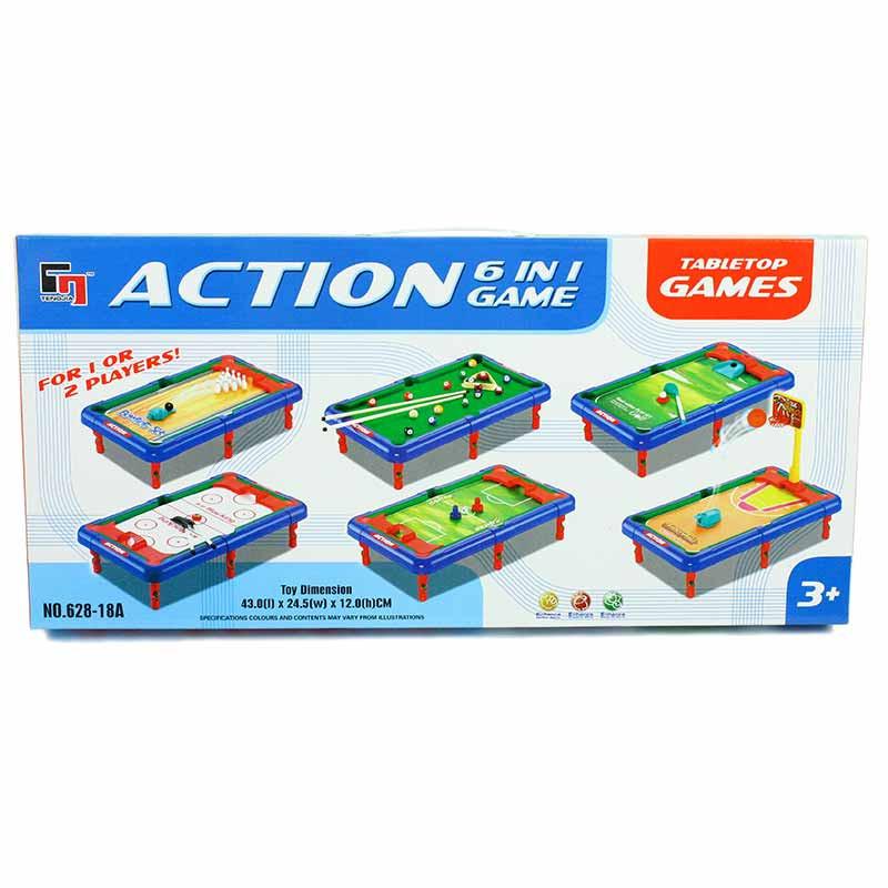 Mini tabuleiro de jogos e em 1