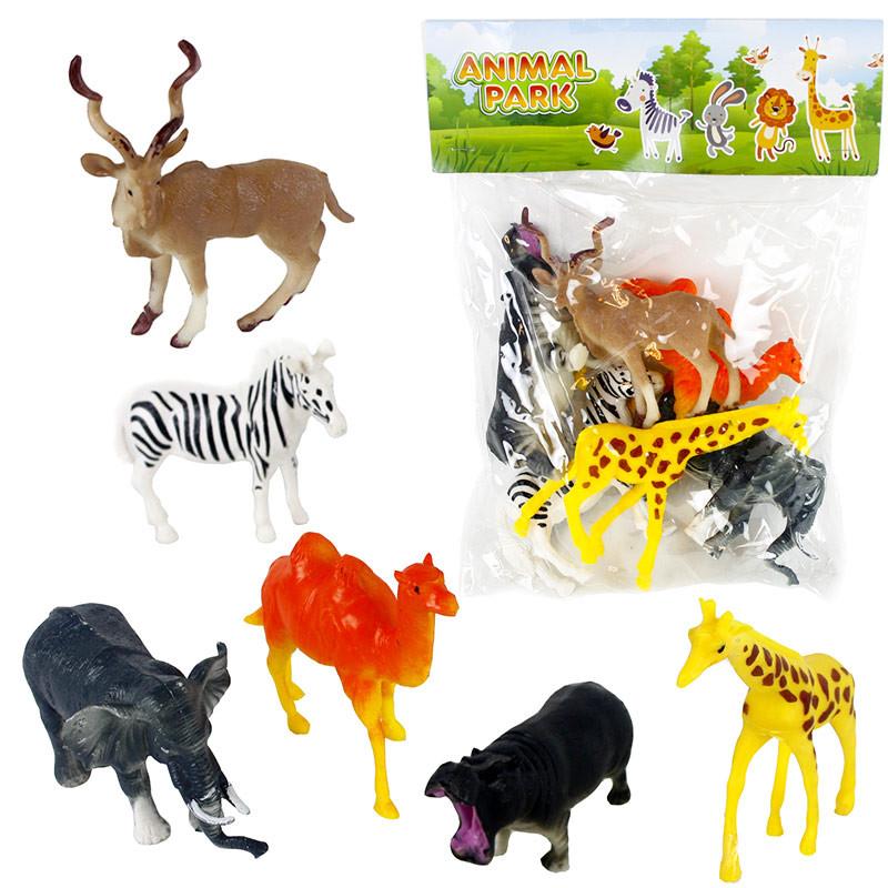 Conjunto 6 animais pvc