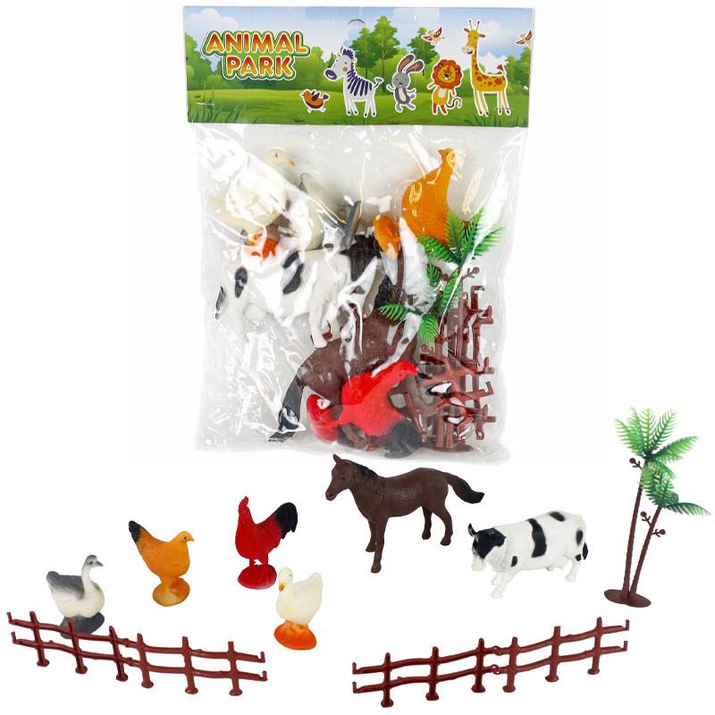 Conjunto 8 animais pvc