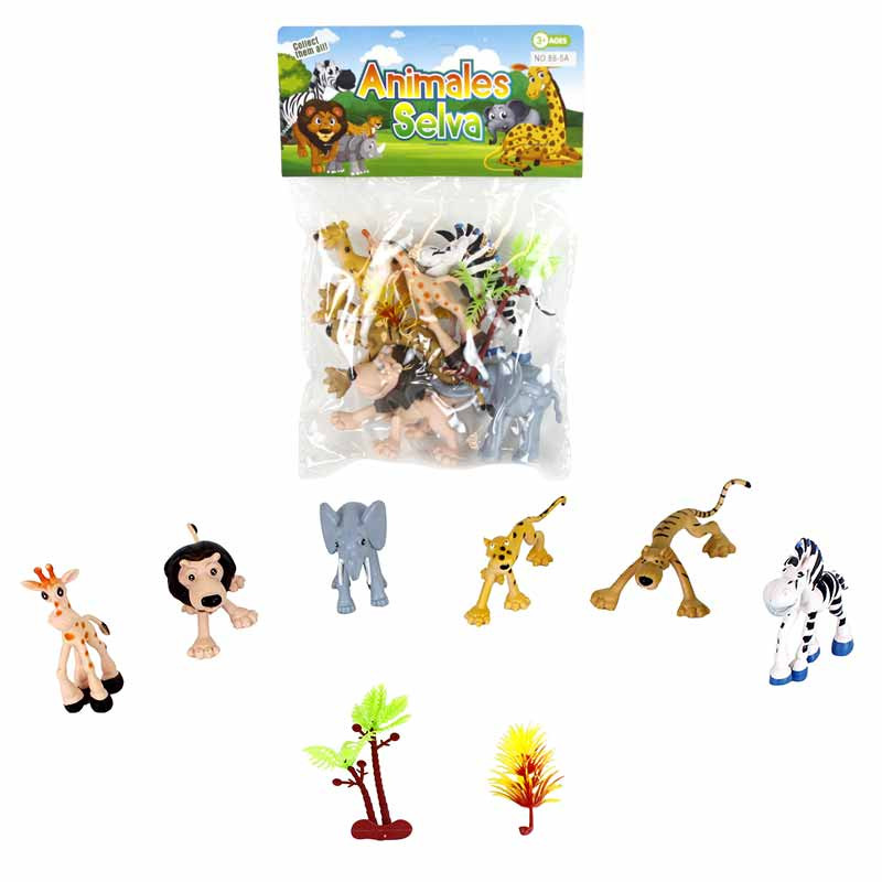 Conjunto 8 animais de PVC