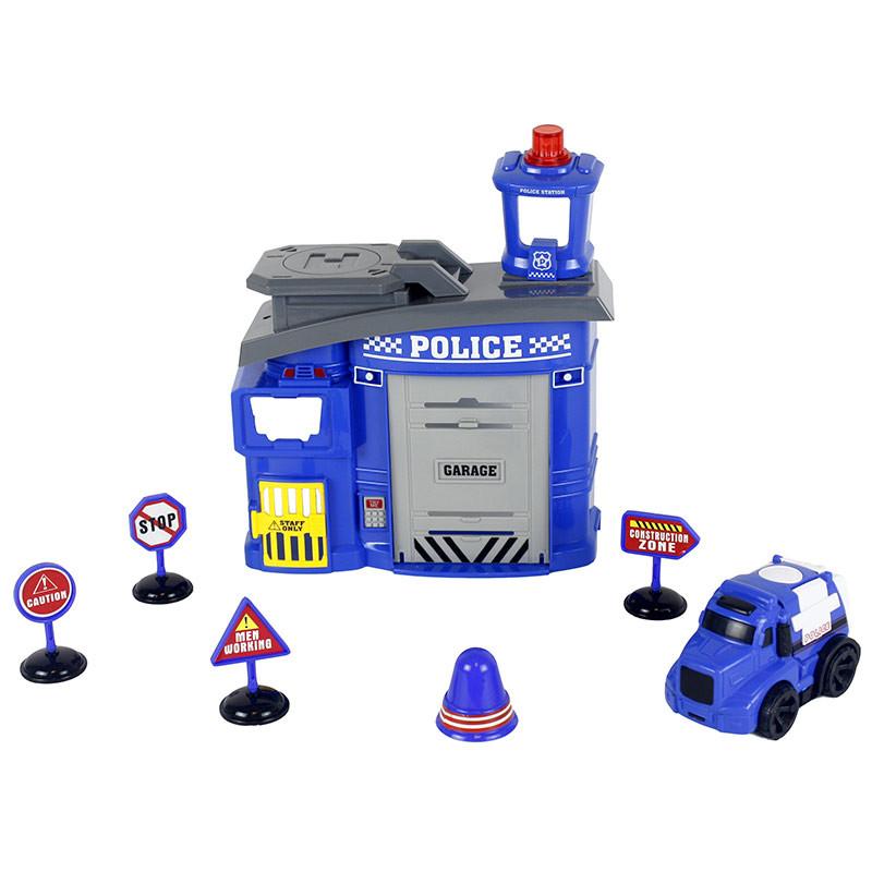 Esquadra de polícia com 8 peças de luzes e sons