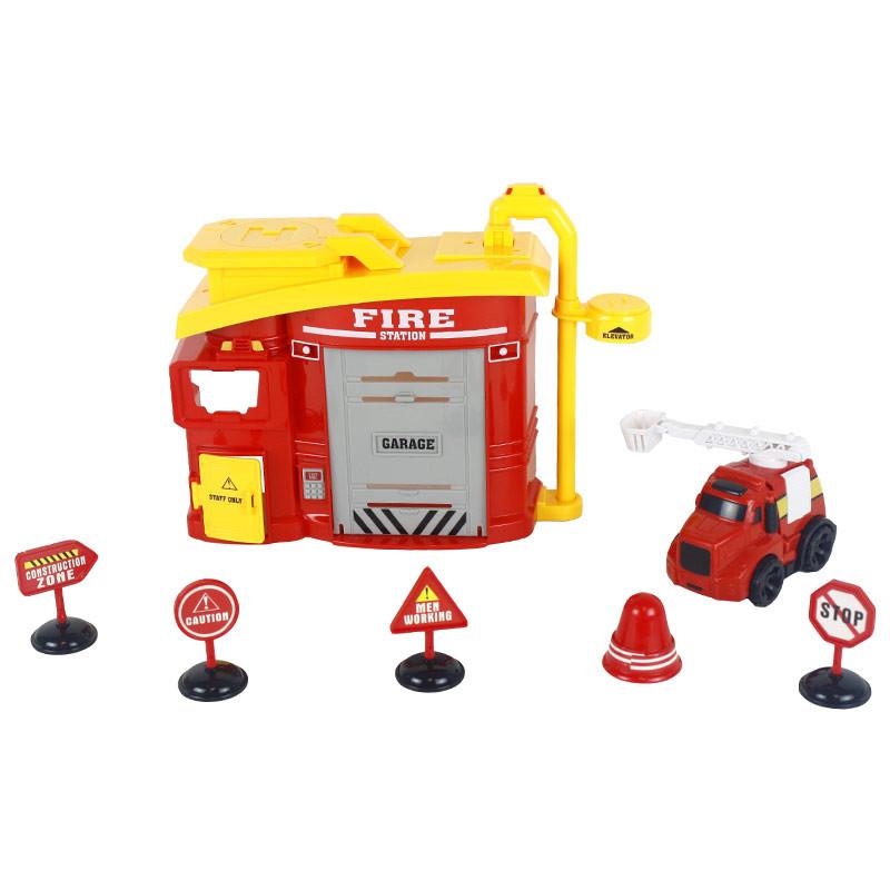Central de bombeiros com 8 peças de luzes e sons