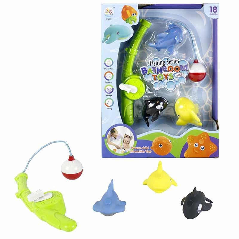 Jogo de pesca para o banho com 3 animais