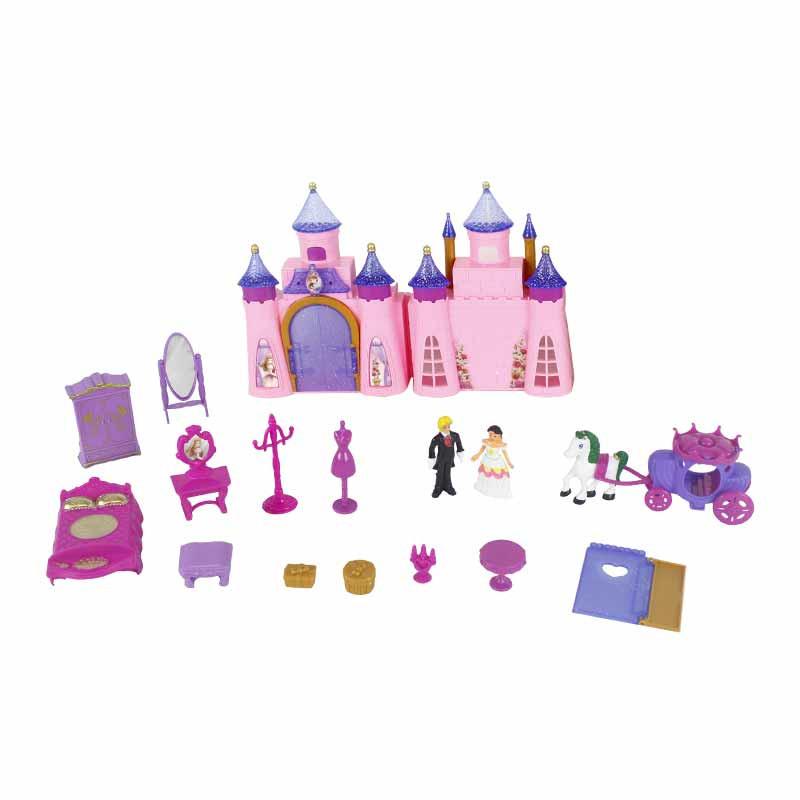 Castelo Princesas com 13 acessórios 33x23cm
