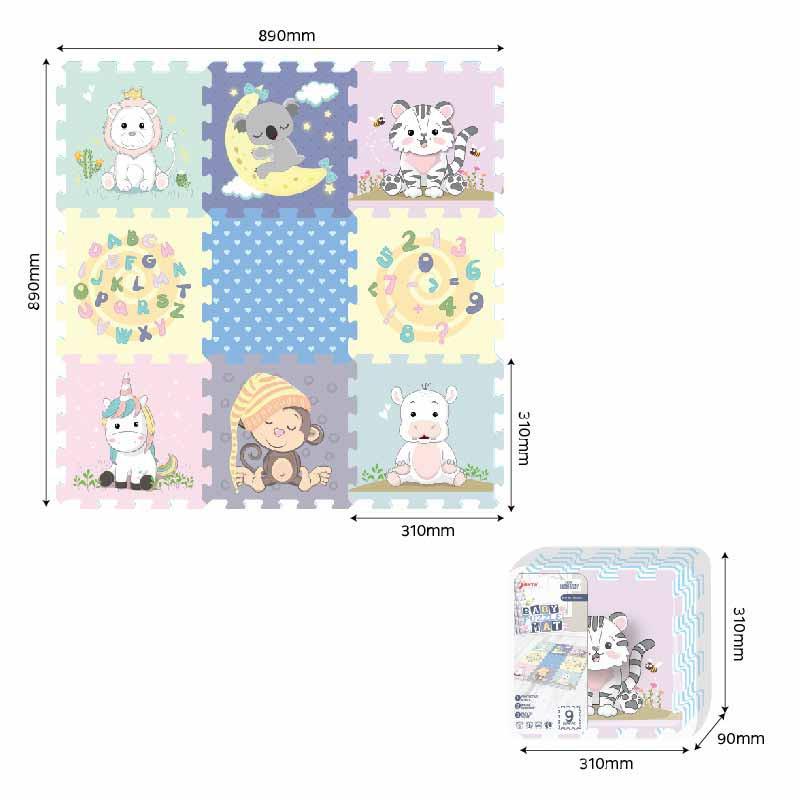 Tapete Puzzle Eva 89x89cm