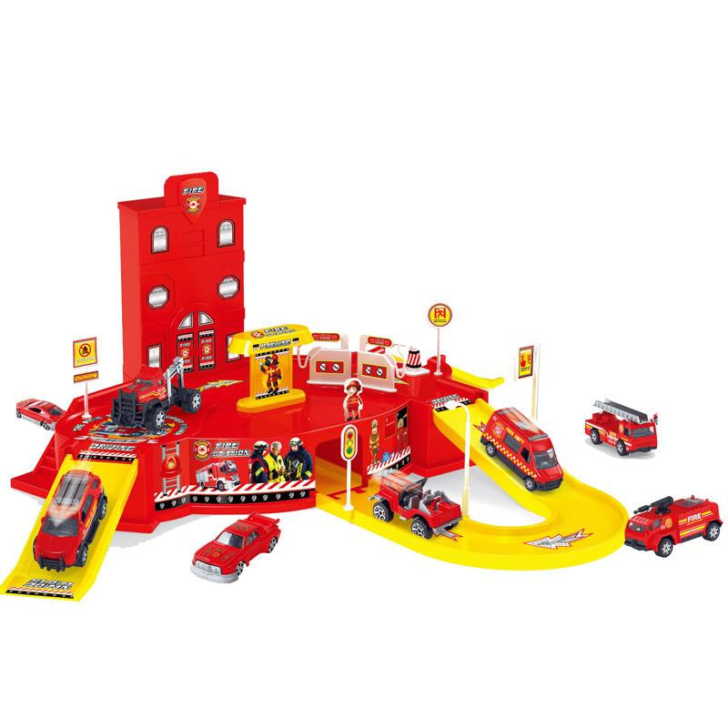 Circuito e parque de bombeiros 2 níveis