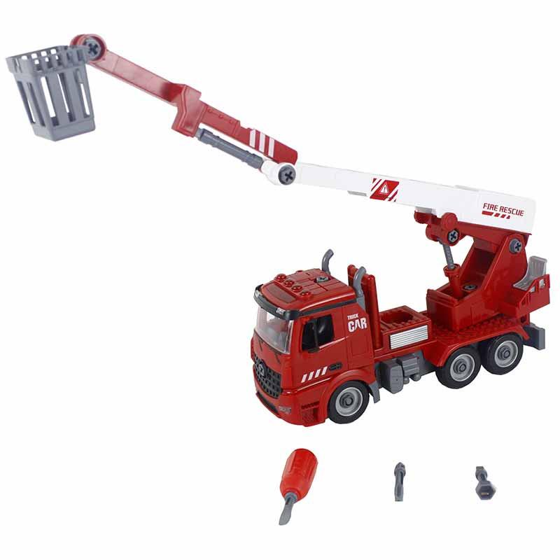 Camião de bombeiros com grua e ferramentas