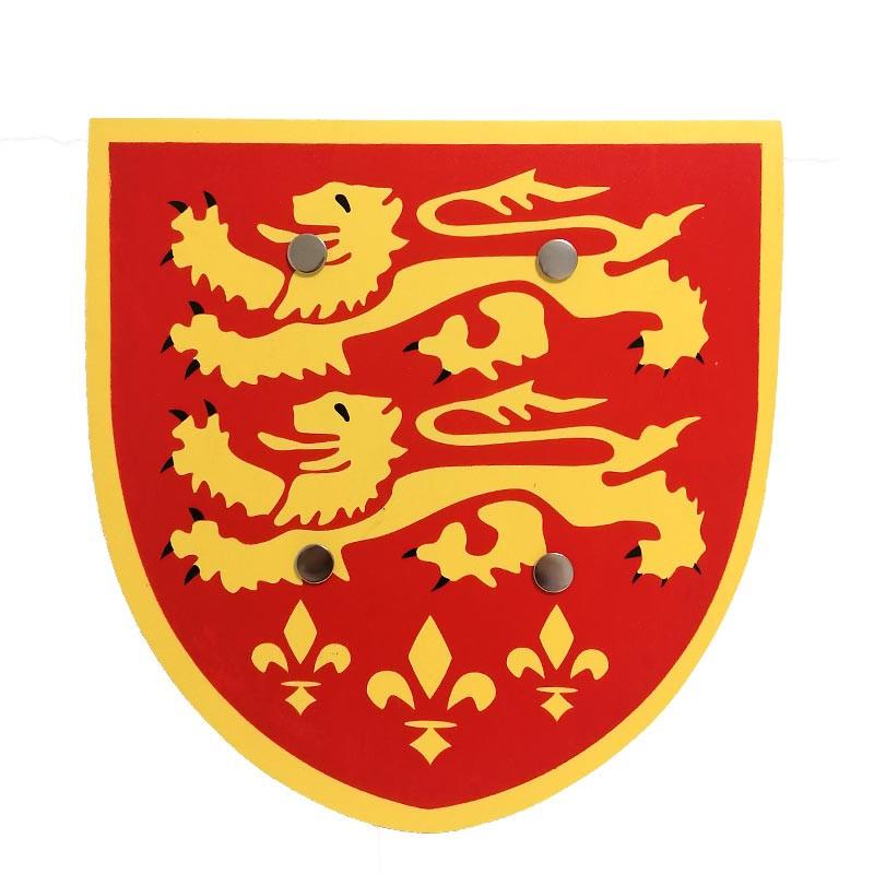 Escudo de Madeira Vermelho
